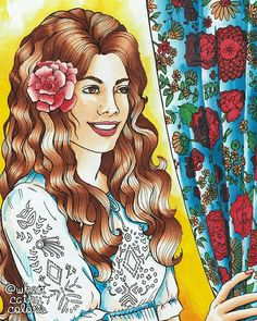 Mexican Girl 💓  Jason Hamilton/Color Me Beautiful Women of the World 💓 Chameleon Pens  💓 Colored by Whencathycolors/Cathy Lasam Ballo 2017