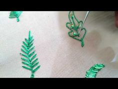 Aari work - Leaf designs with one type of stich - YouTube
