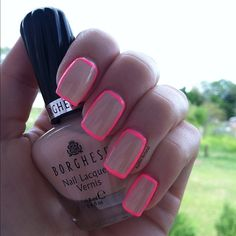 Borghese - Angelica Blush and China Glaze - Shocking Pink. Tutorial on thedailypolish.com  - @kaitlinferland- #webstagram