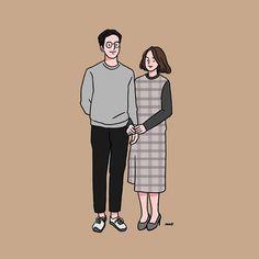 Sweet Couple Cartoon, Cute Couple Comics, Chibi Couple, Couples Comics, Cute Couple Art, Cute Couples, Pretty Art, Cute Art, Cute Couple Drawings