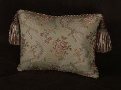 Lee Jofa Silk Lampass Decorative Single Pillow with Kravet Design Velvet by Spiritcraft Pillows and Design, $197.50