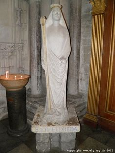 St. Etheldreda Statue in Ely Cathedral
