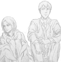 ~Annie and Berthold, Attack on Titan Sketch sequence! Enjoy my other Bert-Annie doodles: =] Let's Dance: Daisies: . It Takes Time Attack On Titan Hoodie, Attack On Titan Meme, Attack On Titan Ships, Attack On Titan Fanart, Attack On Titan Krista, Snk Annie, Annie Leonhart, Anime Merchandise, Couple Cartoon