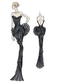 Spring 2009 Atelier Versace: Red Carpet Ruffles and Whorls