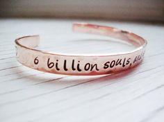 One Tree Hill inspired copper cuff 6 billion souls by Lolasjewels, $12.00