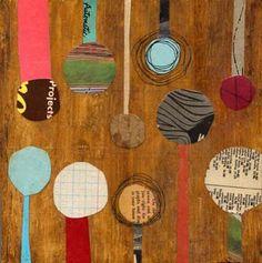 Keri Smith, collage on plywood.