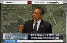 MEDIAITE: President Obama Condemns Both 'Disgusting' Anti-Islam Video And 'Mindless' Violence Before The U.N.