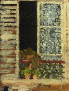 Woman at Her Window - Pierre Bonnard 1895