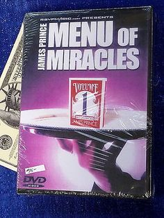 JAMES PRINCE MENU OF MIRACLES Vol 1 DVD MAGIC TRICKS Collectibles:Fantasy, Mythical & Magic:Magic:Books, Lecture Notes www.internetauctionservicesllc.com $29.99