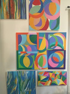 My newly completed abstract original acrylics