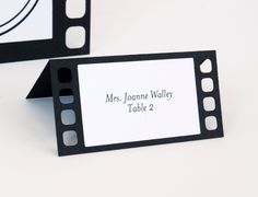 Movie film Tent Place Cards Set of 24 by BluefinWorks on Etsy https://www.etsy.com/listing/152203760/movie-film-tent-place-cards-set-of-24