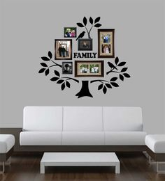 Family Photo Tree Kit Family Picture Wall Decal Home Wall Decoration Vinyl Wall Lettering Vinyl Wall Decals Vinyl Letters Wall Art Family Tree Decal, Family Wall Decor, Tree Decals, Vinyl Wall Decals, Vinyl Decor, Family Tree With Pictures, Family Tree Photo, Photo Tree, Family Tree Designs