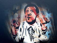 Jerry Lee Lewis on canvas. 30 * 40 cm #jerryleelewis #stencilart #spraypaint