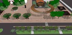 quiosque em areas publicas | Centenário: Veja os projetos de revitalização das praças de Foz ...