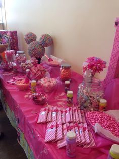 Candy Bar for Minnie Mouse Birthday.