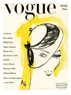 Vintage Vogue Covers Print at the Condé Nast Collection - Carl Eric Erickson Vogue Vintage, Vintage Vogue Covers, Vintage Fashion, Vintage Hats, Fashion Art, High Fashion Photography, Glamour Photography, Lifestyle Photography, Editorial Photography