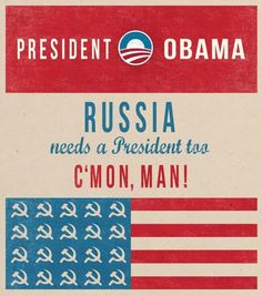 Obama election fun poster. Russian edition