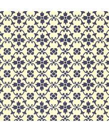 Blue Kitchen Flower Print Italian Paper ~ Carta Varese Italy