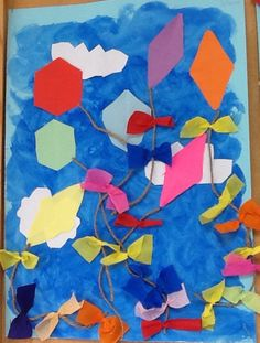 Spring Crafts For Kids, Carnival, Flag, Abstract, Artwork, Painting, Crafts, Artists, Atelier