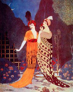 Belle Époque Style Fashions, 1912. George Barbier