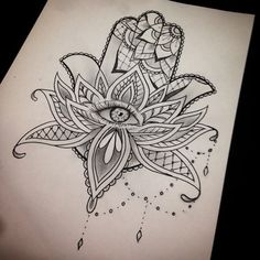 The sketch I did for the hamsa hand the other day #thetattooshop #tattoo #hamsahand #hamsa #sketch # - kaelintaichee