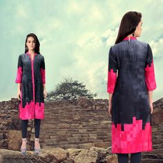 Shop Gray Rayon Viscose Readymade Kurti 65618 online at best price from vast collection of designer kurti at Indianclothstore.com.