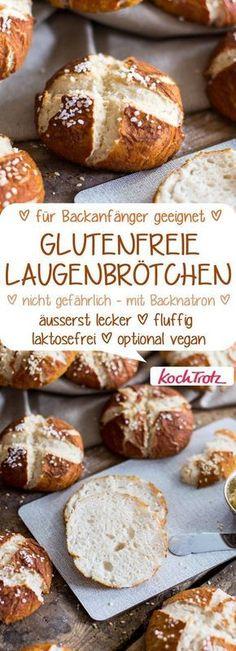 glutenfreie Laugenbrötchen   laktosefrei   auf Wunsch vegan   einfaches Rezept #glutenfrei #laugenbrötchen
