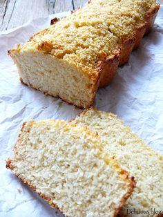 Delicious blog: Pečení bez mouky....Kokosový chlebíček