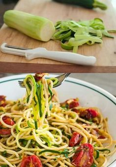 cuketove špagety Asparagus, Spaghetti, Vegetables, Ethnic Recipes, Food, Studs, Vegetable Recipes, Eten, Veggie Food