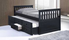 Trundle Bed is actually two twin-sized beds in one: one bed on top, and another which slides out from underneath. http://vurni.com/trundle-bed-with-spare-bed-drawers/