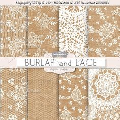 Burlap and Lace digital paper by burlapandlace on @creativemarket