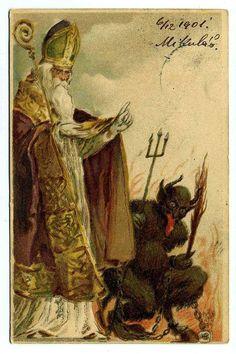Krampus Postcard 1901