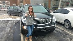 Lindsey Kitrel I am so happy for you. I know you were really nervous driving around your baby in a smaller car and I know you will love the safety and security of this Buick Enclave :-) A big thanks to Trey Lewellen for sending Lindsey and to purchase her car for me. Thank you Trey.