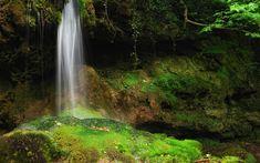 Green ground waterfall