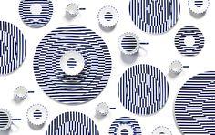 Le spécialiste de la porcelaine britannique Richard Brendon présente sa dernière collection très graphique « Warp and Reason » élaborée avec Patternity.