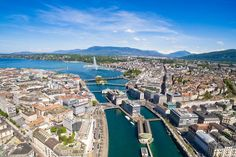 Geneva, Switzerland~ Nestled along the southern shore of Lake Geneva, the picturesque city of Geneva is a must-see. Known as the City of Peace, Geneva is the place to treat your taste buds to Swiss chocolate or bring home a high-end Swiss watch. Geneva Old Town, Lake Geneva, Scottsdale Old Town, Europe On A Budget, Visit Canada, Travel Nursing, Travel Reviews, Travel News, World Cities