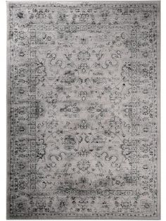 Orientteppich Vintage Flowers Grau