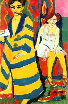 Ernst Kirchner, Self Portrait with Model, 1910/1926