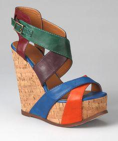 f667959424fed0 MIA Shoes Multicolor Statuesque Wedge Sandal