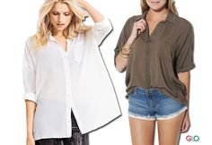 5 Slimming Tops For Post Baby Belly ~ Oversized Blouse