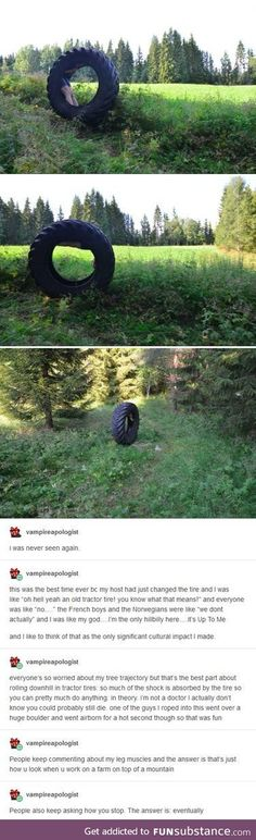 Hillbilly culture - playing with tires Stupid Funny, Funny Cute, The Funny, Hilarious, Tumblr Funny, Funny Memes, Videos Funny, Thats The Way, Funny Stories