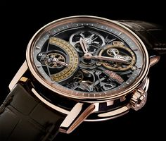 """DeWitt Academia Skeleton Watch - by Zen Love - See this baby in action at: aBlogtoWatch.com - """"DeWitt is a very niche Swiss brand that likes to remind you that owner Jerome DeWitt is a descendent of Napoleon Bonaparte. While that is kind of cool for him, the brand mostly gets our attention with technical horology and unexpected designs. The avant-garde Academia collection with its rare complications is the brand's signature, and the new DeWitt Academia Skeleton is the latest addition..."""""""