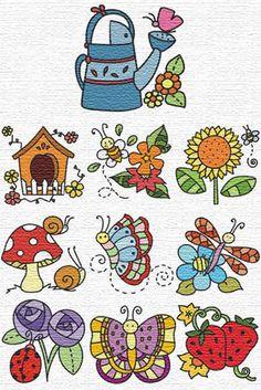 Free Machine #Embroidery Designs, 10garden set