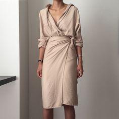 47e54ff85fdd 2018 spring summer khaki beige sexy vintage Cotton and Linen shirt dress v  neck Long Sleeve Belted Dress Elegant Work Long Dress