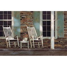 """Three Posts Stone House Photographic Print on Wrapped Canvas Size: 12"""" H x 18"""" W x 1.5"""" D"""