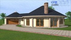 Overall Dimensions- x mBathrooms- Car Garage Area- Square meters Round House Plans, My House Plans, Modern House Plans, House Floor Plans, House Plans South Africa, Circle House, Building Costs, West Home, Cabanas