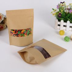 Find More Packaging Bags Information about 14*22+4cm 30pcs kraft paper ziplock Window bag for gift/tea/candy/jewelry/bread Packaging Paper food bag diy Packaging Bags,High Quality bag school,China bag uk Suppliers, Cheap paper bag birthday party from Playful beauty department store on Aliexpress.com