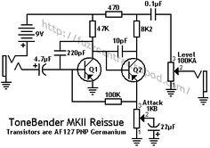 Sola Sound ToneBender MKII Reissue Schematic