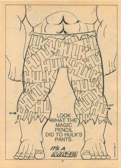 Hulk Pants Maze #marvel