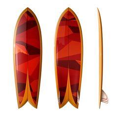 Keel Fish by Driftwood Caravan. Fish Surfboard, Surfboard Shapes, Surf Design, Fish Design, Custom Surfboards, Burger Places, Surf Shack, Surf Art, Longboards